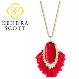 Kendra Scott BETSY Tassel Necklace Red